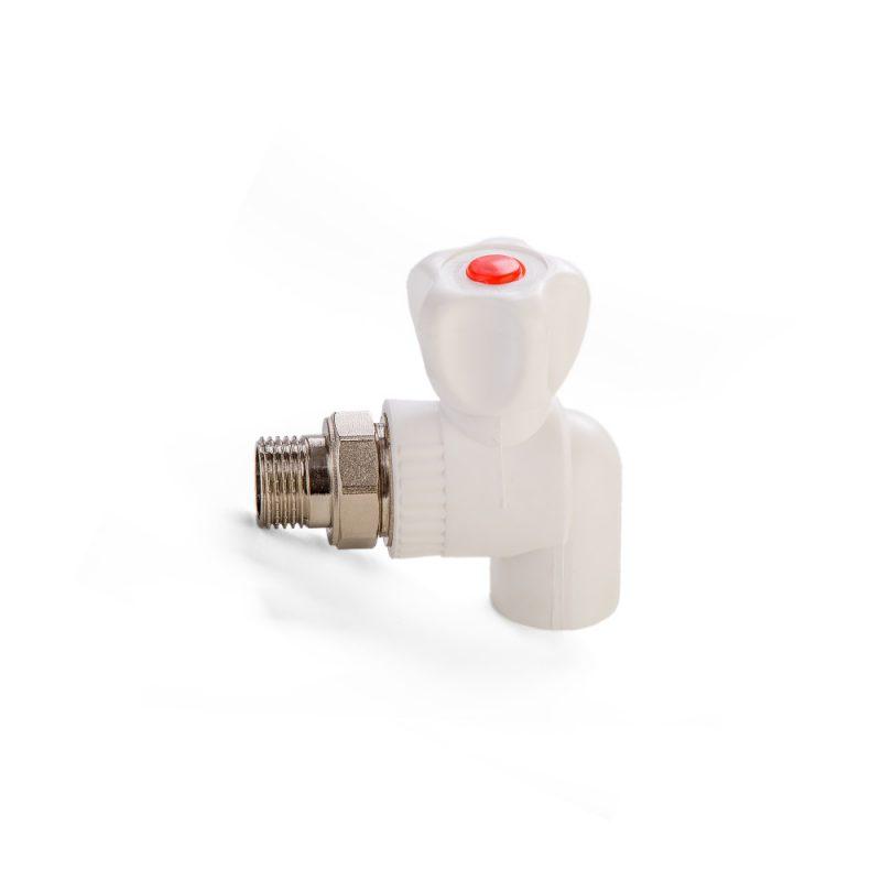 Кран шаровый ППР для радиатора угловой